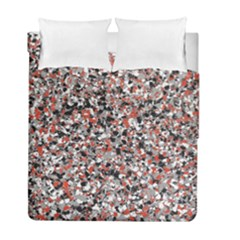Hurley Mix Electric Electric Red Blend Duvet Cover Double Side (Full/ Double Size) by Mariart