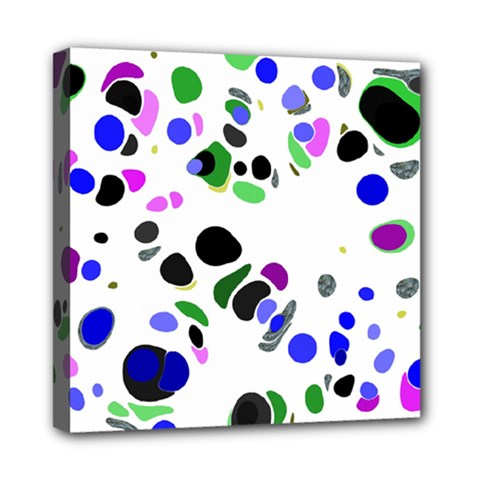 Colorful Random Blobs Background Mini Canvas 8  X 8  by Nexatart