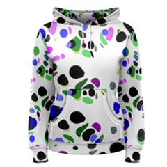Colorful Random Blobs Background Women s Pullover Hoodie