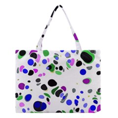 Colorful Random Blobs Background Medium Tote Bag by Nexatart