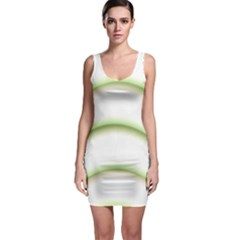 Abstract Background Sleeveless Bodycon Dress