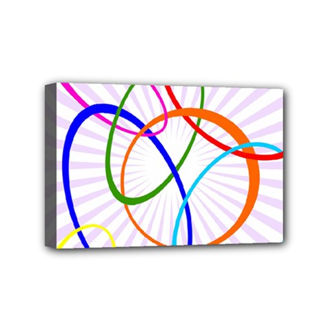 Abstract Background With Interlocking Oval Shapes Mini Canvas 6  X 4