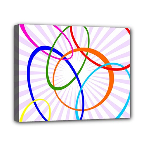 Abstract Background With Interlocking Oval Shapes Canvas 10  X 8  by Nexatart