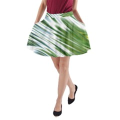 Fluorescent Flames Background Light Effect Abstract A Line Pocket Skirt by Nexatart