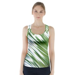 Fluorescent Flames Background Light Effect Abstract Racer Back Sports Top