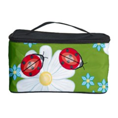 Insect Flower Floral Animals Star Green Red Sunflower Cosmetic Storage Case by Mariart