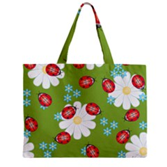 Insect Flower Floral Animals Star Green Red Sunflower Zipper Mini Tote Bag by Mariart
