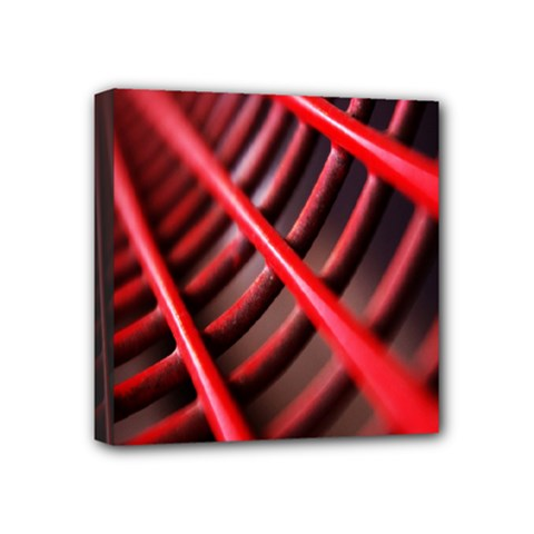 Abstract Of A Red Metal Chair Mini Canvas 4  X 4  by Nexatart