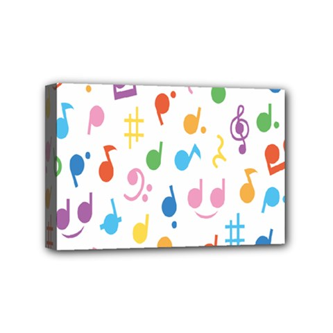 Musical Notes Mini Canvas 6  X 4  by Mariart
