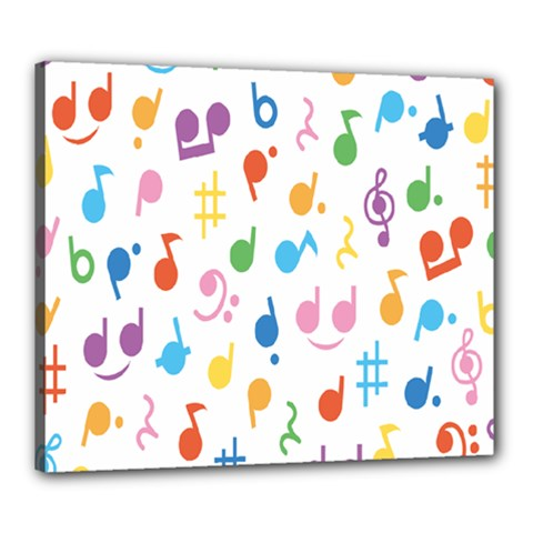 Musical Notes Canvas 24  X 20  by Mariart