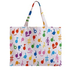 Musical Notes Zipper Mini Tote Bag by Mariart