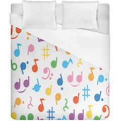 Musical Notes Duvet Cover (california King Size) by Mariart