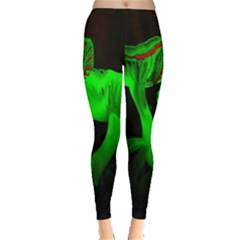 Neon Green Resolution Mushroom Leggings  by Mariart