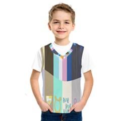 Rainbow Color Line Vertical Rose Bubble Note Carrot Kids  Sportswear