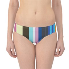 Rainbow Color Line Vertical Rose Bubble Note Carrot Hipster Bikini Bottoms