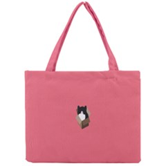 Minimalism Cat Pink Animals Mini Tote Bag