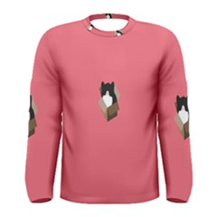Minimalism Cat Pink Animals Men s Long Sleeve Tee
