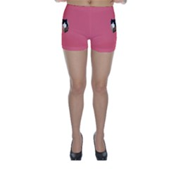 Minimalism Cat Pink Animals Skinny Shorts