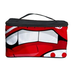 Sexy Lips Red Polka Dot Cosmetic Storage Case by Mariart