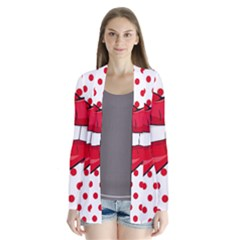 Sexy Lips Red Polka Dot Cardigans