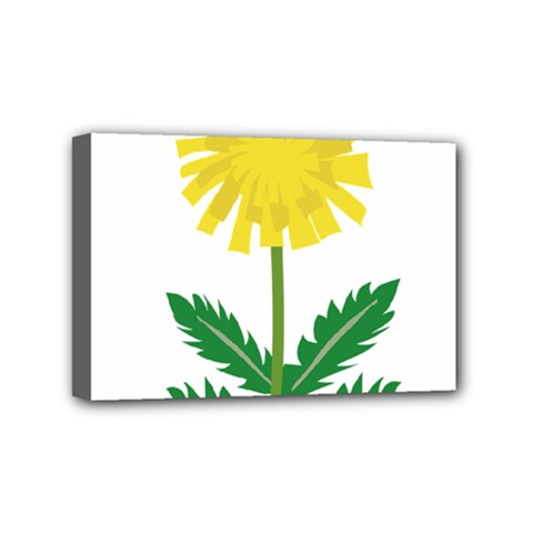 Sunflower Floral Flower Yellow Green Mini Canvas 6  X 4