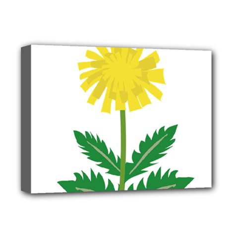 Sunflower Floral Flower Yellow Green Deluxe Canvas 16  X 12