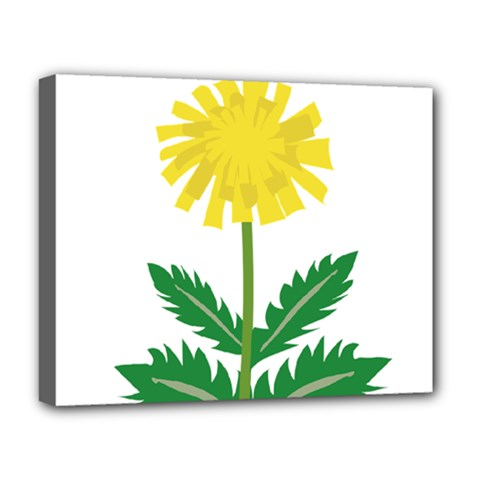 Sunflower Floral Flower Yellow Green Deluxe Canvas 20  X 16   by Mariart