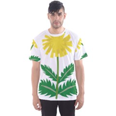Sunflower Floral Flower Yellow Green Men s Sport Mesh Tee
