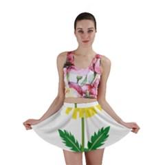 Sunflower Floral Flower Yellow Green Mini Skirt