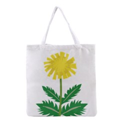 Sunflower Floral Flower Yellow Green Grocery Tote Bag