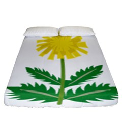 Sunflower Floral Flower Yellow Green Fitted Sheet (california King Size)