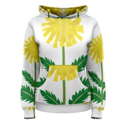 Sunflower Floral Flower Yellow Green Women s Pullover Hoodie