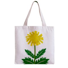 Sunflower Floral Flower Yellow Green Zipper Grocery Tote Bag by Mariart