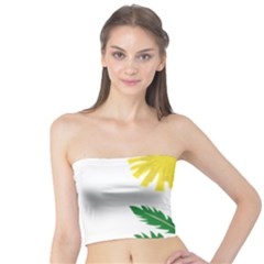 Sunflower Floral Flower Yellow Green Tube Top