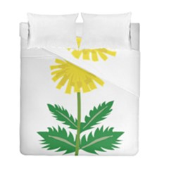 Sunflower Floral Flower Yellow Green Duvet Cover Double Side (full/ Double Size)