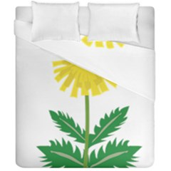 Sunflower Floral Flower Yellow Green Duvet Cover Double Side (california King Size)