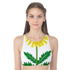 Sunflower Floral Flower Yellow Green Tank Bikini Top