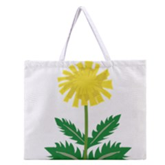 Sunflower Floral Flower Yellow Green Zipper Large Tote Bag by Mariart