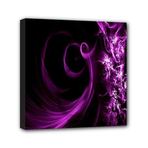 Purple Flower Floral Mini Canvas 6  X 6  by Mariart