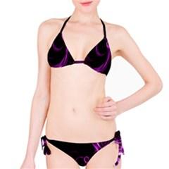 Purple Flower Floral Bikini Set