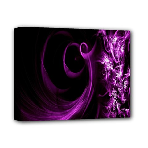 Purple Flower Floral Deluxe Canvas 14  X 11  by Mariart