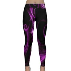 Purple Flower Floral Classic Yoga Leggings