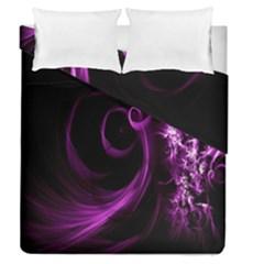 Purple Flower Floral Duvet Cover Double Side (queen Size)