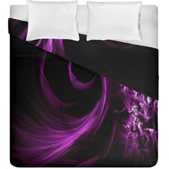 Purple Flower Floral Duvet Cover Double Side (king Size)