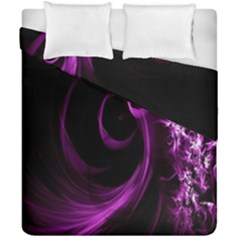 Purple Flower Floral Duvet Cover Double Side (california King Size)