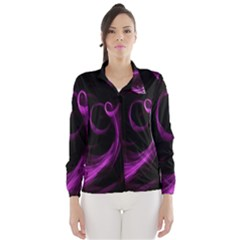 Purple Flower Floral Wind Breaker (women)