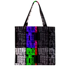 Repeated Tapestry Pattern Zipper Grocery Tote Bag