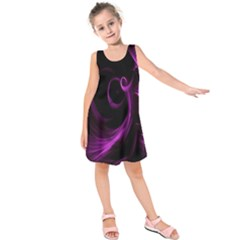 Purple Flower Floral Kids  Sleeveless Dress