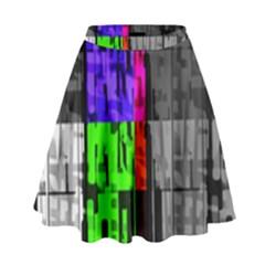 Repeated Tapestry Pattern High Waist Skirt by Nexatart