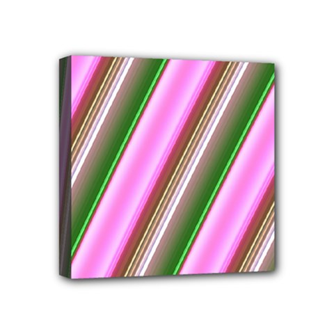 Pink And Green Abstract Pattern Background Mini Canvas 4  X 4  by Nexatart